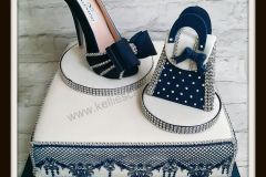 Sugar Shoe and Bag with edible lace