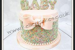 Baby Shower Sprinkles cake