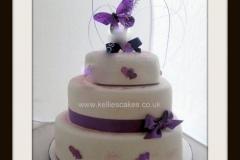 Three-tier-heart-wedding-cake